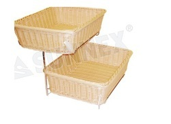 Heavy Duty Polypropylene Rattan Basket Rectangular