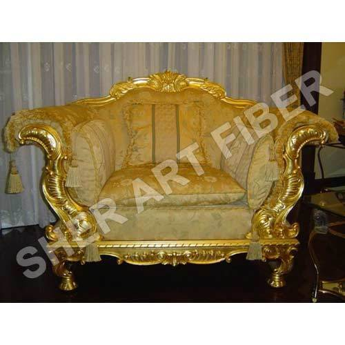 Genial Wedding Golden Sofa Set