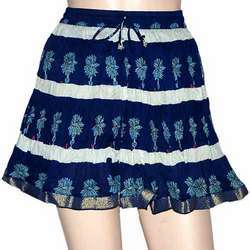 JaipurOnlineShop Cotton Fashion Ethnic Indian Block Print Mini Short Skirt