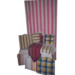Stripes And Checks Nira Home Textile Set, GSM: 0-100, Packaging Type: Box