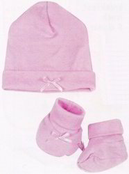 Woolen Plain Baby Cap & Gloves