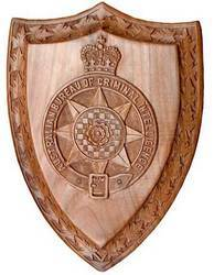 Walnut Wood Crested Plaque