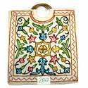 Wooden Handle Embroidered Bag