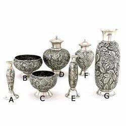 Embossed Brass Vase