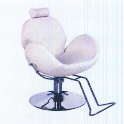 White Adults Salon And Beauty Parlour Chair, For Professional, With Footrest
