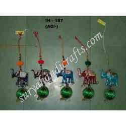 Meena Elephant Beads And Wall Hanging