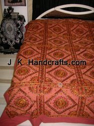 Indian Bed Cover Bedspread Tapestry Throw India Ethnic Work