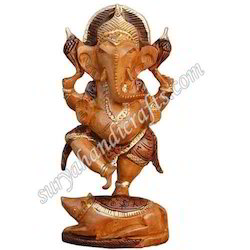 Wooden Antique Ganesha Standing
