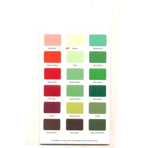 Synthetic Enamel Shade Cards, Paints, Wall Putty