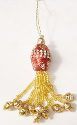 Saffron Beaded Tassel