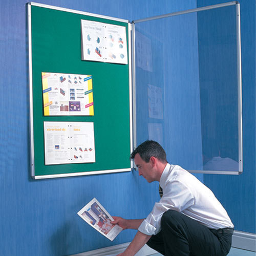 Softboard Core Green Acrylic Covered Notice Board, Board Size: 24'  x 18' , for Office