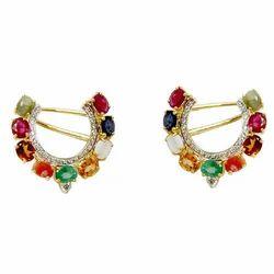 Multicolored Navratna Earrings