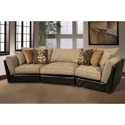 Leather and Fabric Upholstered Sofa Set - JK Construction ...