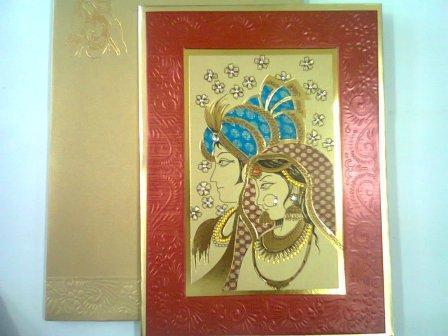 Couple Theme Indian Wedding Invitation Cards