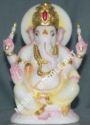 Lord Ganesha Statue - Black Marble Ganesha Moorti Exporter