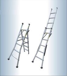 Aluminum Straight Cum Stool Ladder