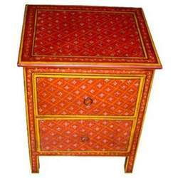 2 Drawer Painted Bed Side Chest
