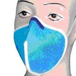Washable Mask Blue With Nose Clip