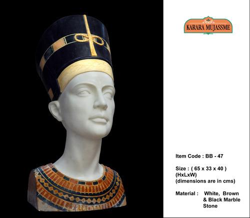 Ancient Egyptian Pharaohs Marble Bust