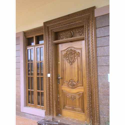 Nice Exterior Polished Wooden Main Door