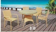 Rattan Chair & Table