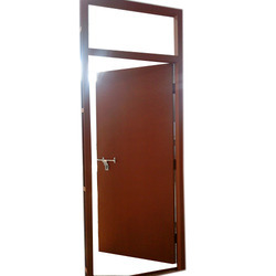Red Oxide Single Skin Steel Doors, Thickness: 35 Mm