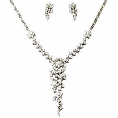 Indian diamond necklace set at rs 105592 piece sitapura jaipur indian diamond necklace set aloadofball Choice Image