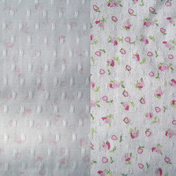 Chiffon Floral Printed Shabby Jacquard Fabric