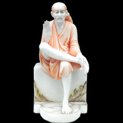 Sai Baba Idol from White Marble