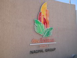 Outdoor Commercial Name Plate
