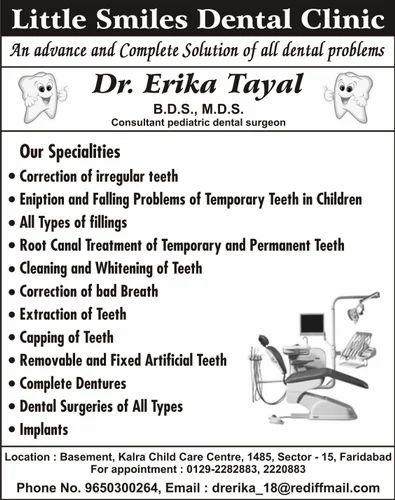 Medical Science & Peds Dentist Service Provider from Faridabad