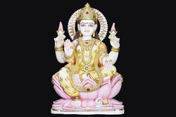 LA-1015 Goddess Laxmi Mata Marble Statue