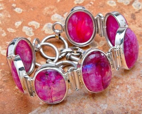 Silver Rainbow Moon Stone Bracelet - Silver Organisation