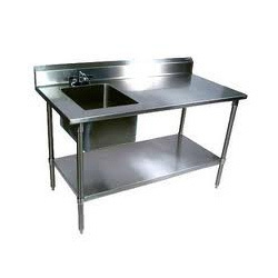Preparation Table Sink Under Shelf