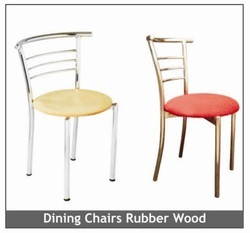 Dining Chairs Rubber Wood And Cushion