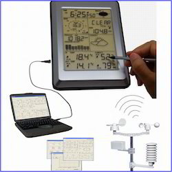 Professional Touch Screen Weather Center With PC Interface