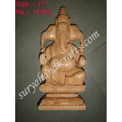 Wooden Ganesh Statues