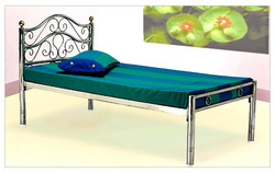 Decorative Steel Single Bed, For Home