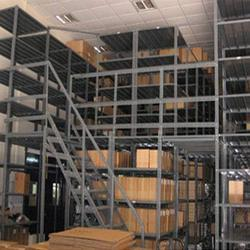 Iron And Steel Silver Slotted Angle Storage Racks, For Warehouse
