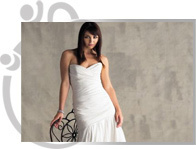 White Design Gown
