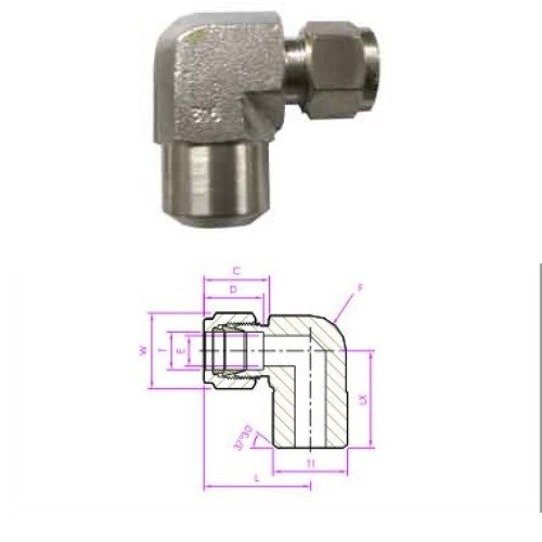 Fractional Tube Pipe Butt Weld, Weld Fitting / Male Pipe