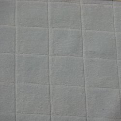 Cotton Velour Single Dye Check Fabric