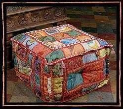 Handmade Bohemian Patchwork Ottoman/Floor Cushion
