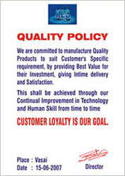 Assuring Quality in Products & Processes