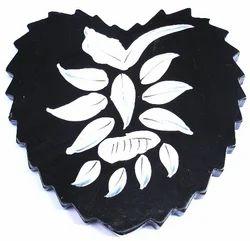 Heart Shape Wooden Coaster