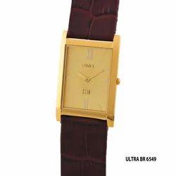 Men's Golden Square Dial Watch