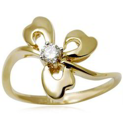 Designer Diamond Stud Gold Ring