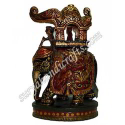 Wooden Painting Ambabadi Elephant