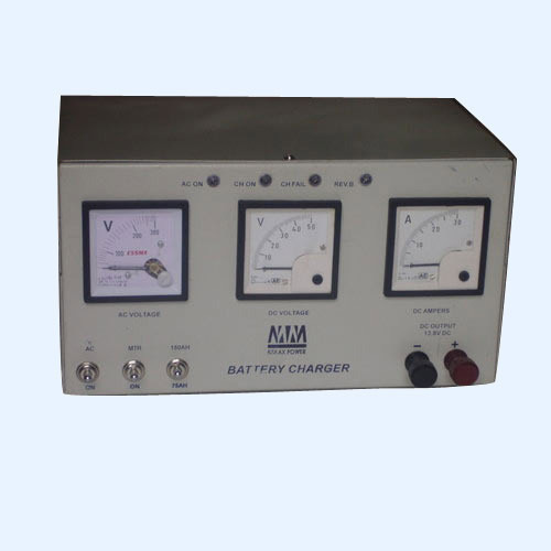 Industrial Battery Charger with Meter