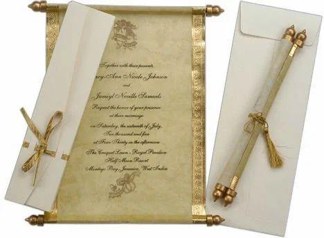 Antique Look Scroll Invitations